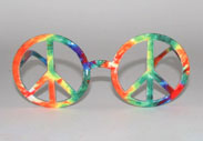 peace symbol glasses hippie glasses hippy glasses tie dyed glasses