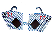 playing card poker glasses all aces glasses